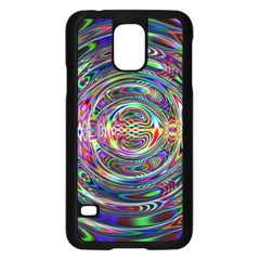 Wave Line Colorful Brush Particles Samsung Galaxy S5 Case (Black)