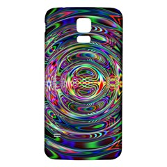 Wave Line Colorful Brush Particles Samsung Galaxy S5 Back Case (white)