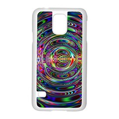 Wave Line Colorful Brush Particles Samsung Galaxy S5 Case (white)