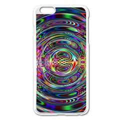 Wave Line Colorful Brush Particles Apple Iphone 6 Plus/6s Plus Enamel White Case