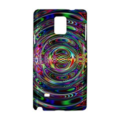 Wave Line Colorful Brush Particles Samsung Galaxy Note 4 Hardshell Case