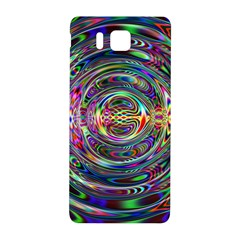 Wave Line Colorful Brush Particles Samsung Galaxy Alpha Hardshell Back Case
