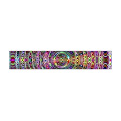 Wave Line Colorful Brush Particles Flano Scarf (mini)