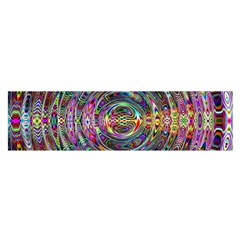 Wave Line Colorful Brush Particles Satin Scarf (oblong)