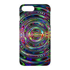 Wave Line Colorful Brush Particles Apple Iphone 7 Plus Hardshell Case