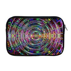 Wave Line Colorful Brush Particles Apple Macbook Pro 17  Zipper Case