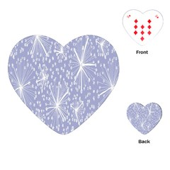 Floral Gray Springtime Flower Playing Cards (Heart)