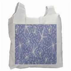 Floral Gray Springtime Flower Recycle Bag (One Side)