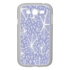 Floral Gray Springtime Flower Samsung Galaxy Grand DUOS I9082 Case (White)