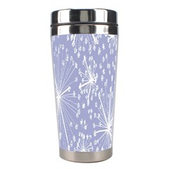 Floral Gray Springtime Flower Stainless Steel Travel Tumblers
