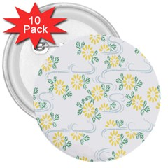 Flower Arrangements Season Sunflower 3  Buttons (10 Pack)