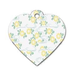 Flower Arrangements Season Sunflower Dog Tag Heart (two Sides)