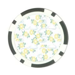 Flower Arrangements Season Sunflower Poker Chip Card Guard (10 Pack)