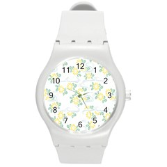 Flower Arrangements Season Sunflower Round Plastic Sport Watch (M)