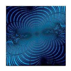Abstract Fractal Blue Background Tile Coasters