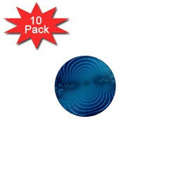 Abstract Fractal Blue Background 1  Mini Magnet (10 Pack)