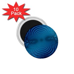 Abstract Fractal Blue Background 1 75  Magnets (10 Pack)