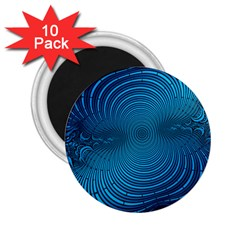 Abstract Fractal Blue Background 2 25  Magnets (10 Pack)