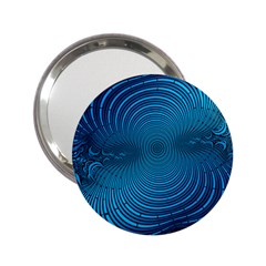 Abstract Fractal Blue Background 2.25  Handbag Mirrors