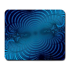 Abstract Fractal Blue Background Large Mousepads