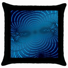 Abstract Fractal Blue Background Throw Pillow Case (black)