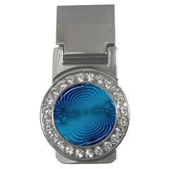 Abstract Fractal Blue Background Money Clips (cz)