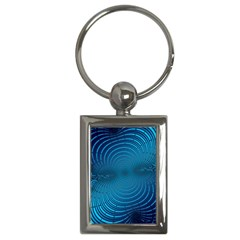 Abstract Fractal Blue Background Key Chains (rectangle)