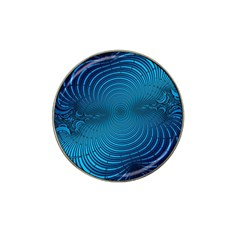 Abstract Fractal Blue Background Hat Clip Ball Marker