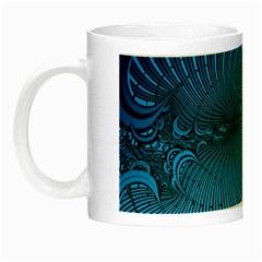 Abstract Fractal Blue Background Night Luminous Mugs