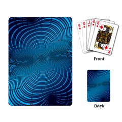 Abstract Fractal Blue Background Playing Card