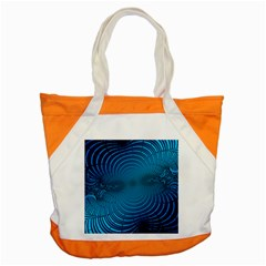 Abstract Fractal Blue Background Accent Tote Bag