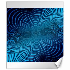 Abstract Fractal Blue Background Canvas 8  X 10