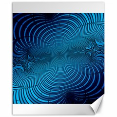 Abstract Fractal Blue Background Canvas 16  X 20