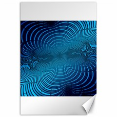 Abstract Fractal Blue Background Canvas 20  X 30