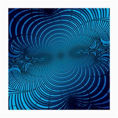 Abstract Fractal Blue Background Medium Glasses Cloth