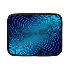 Abstract Fractal Blue Background Netbook Case (small)