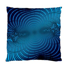 Abstract Fractal Blue Background Standard Cushion Case (Two Sides)