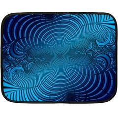 Abstract Fractal Blue Background Fleece Blanket (Mini)