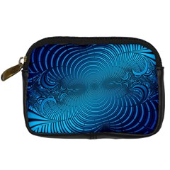 Abstract Fractal Blue Background Digital Camera Cases