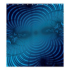 Abstract Fractal Blue Background Shower Curtain 66  X 72  (large)