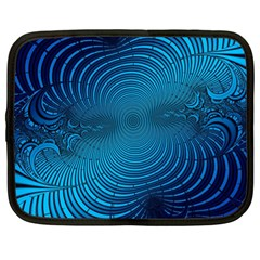Abstract Fractal Blue Background Netbook Case (xl)