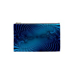 Abstract Fractal Blue Background Cosmetic Bag (small)