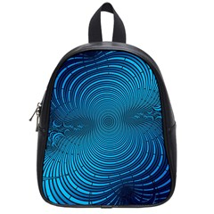 Abstract Fractal Blue Background School Bags (Small)