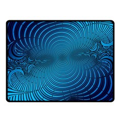 Abstract Fractal Blue Background Fleece Blanket (small)