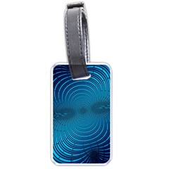 Abstract Fractal Blue Background Luggage Tags (one Side)