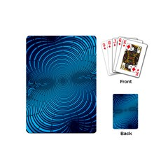Abstract Fractal Blue Background Playing Cards (Mini)