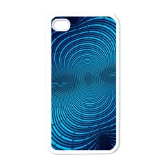 Abstract Fractal Blue Background Apple Iphone 4 Case (white)