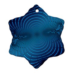 Abstract Fractal Blue Background Ornament (snowflake)