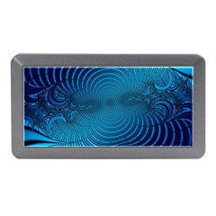 Abstract Fractal Blue Background Memory Card Reader (mini)