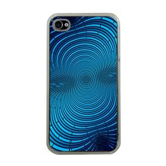 Abstract Fractal Blue Background Apple Iphone 4 Case (clear)